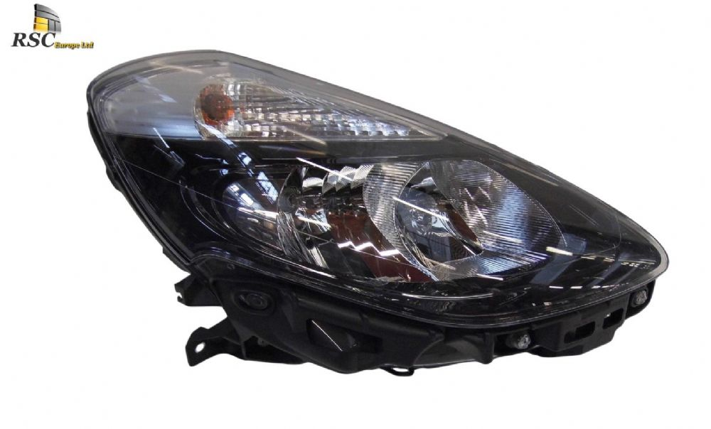 RENAULT CLIO III PHASE 2 RIGHT HALOGEN HEADLIGHT IN BLACK 260106323R / 7701072011 / 260105771R